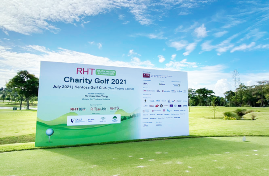 RHT Rajan Menon Foundation Charity Golf 2021 raises more than S$520,000 for local causes in education, eldercare as well as the environment and sustainability